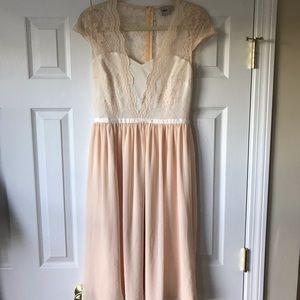 ASOS delicate blush pink dress